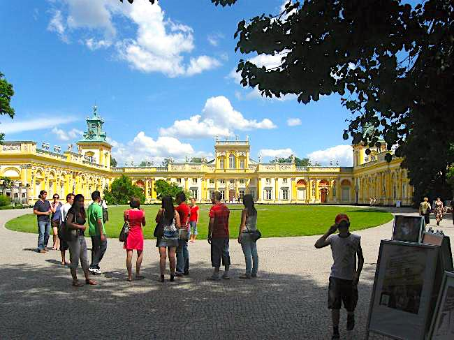 The Wilanow Palace in Warsaw is a glorious example of Polish Baroque